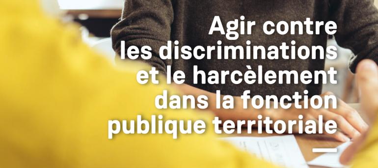 affiche Agir contre les discriminations dans la fonction publique
